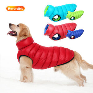 Dog Coats Winter Clothes Hooded Waterproof Large Dogs Down Jacket Lightweight