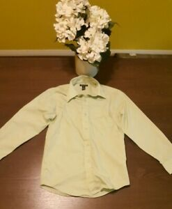 Boys George long sleeve Dress Shirt Color Green. Size 10-12 Large.