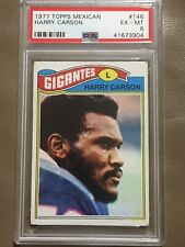 1977 Topps Mexican #146 Harry Carson PSA 6 HOF Rookie Card (RC)