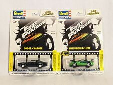2 Revell Diecast Fast And Furious cars, Eclipse And Charger, 2002