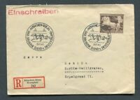 German Reich WW II : Great R-Cover from 1940 - Horse race Munich - sent !