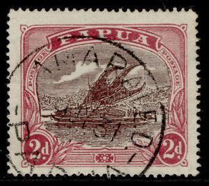 AUSTRALIA - Papua GV SG96a, 2d deep brown-purple & lake, FINE USED.