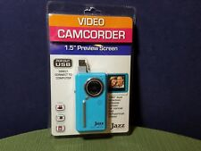 """Jazz DV 151 Blue Video Camcorder 1.5"""" Screen Pop Out USB Direct Connect To PC"""