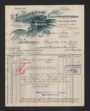 METZ, Rechnung 1907, Lothringer Blechwaren-Fabrik GmbH Haus-Küchen-Geräte