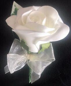 Ivory rose buttonhole sample