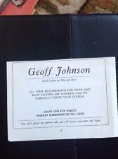 M4-1 Ephemera 1980 Advert Market Harborough Geoff Johnson Clothes Shop
