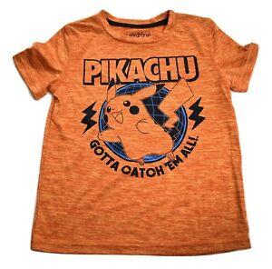 POKEMON Boys' This Is My Pikachu Costume Short Sleeve Orange Tee Halloween