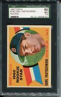 1960 Topps Baseball #148 Carl Yastrzemski Rookie Card Graded SGC Nr MINT+ 86 7.5