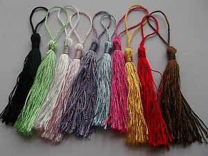 20 to 100 Silky Cotton 13.5cm Tassels for Cardmaking Bookmarks Card Art Crafts