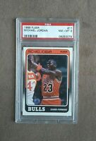 1988 Fleer Basketball Michael Jordan 3rd Year Card #17 PSA Graded 8 NM~MT