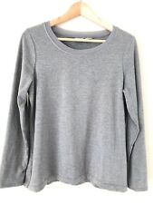 Chicos Zenergy Heather Gray Lurex Mesh Trim Shimmer Tee Shirt Top Large Size 2