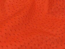 Ostrich Leather Hide Paprika Color (%100 Natural Genuine Hide)