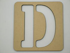 15cm Large Wooden Letter Stencil Letters Alphabet Name Wedding Home Decor STE