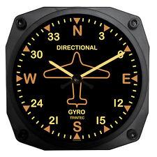 """Trintec 6"""" Vintage Aircraft Directional Gyro Wall Clock - 9062V"""