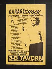 estrus records garage shock poster 11x17 dead moon mono men fastbacks fall-outs
