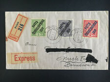 1919 Polna Czechoslovakia Express Cover to Nusle Overprinted Austrian Stamps