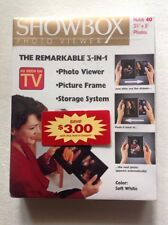 "NIB Showbox Photo Viewer Frame Holds Up To 40 3-1/2""x5"" Photos Made Switzerland"