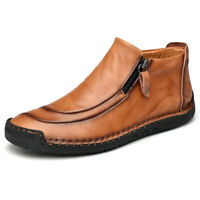 Men's Winter Snow Boots High Top Warm Cotton Shoes Non-slip Sneakers Big Size 48