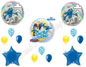 THE SMURFS Smurftastic BIRTHDAY Party Balloons Decoration Supplies Movie