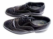 O'Sullivan Executive Imperial 9.5E Black Wing Tip Oxford Dress Shoes Made In USA