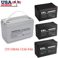 Lot 12V 100 12Ah 9AhSealed Lead Acid Battery for UPS/Surge Protector And Scooter