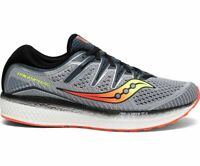 Saucony Triumph ISO 5 Wide Grey Black Mens Neutral Running Shoes Size S20463-1