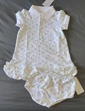 Baby Girl 24 Months Ralph Lauren White Floral Tennis Ruffle Dress & Bloomers