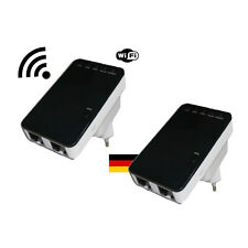 2 Mal 300 Mbit Highspeed WLAN Repeater Wifi Verstärker für zb Fritzbox universal