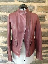 TOD'S Soft Brown Womens Calf Leather Jacket, Size 36 (XS), NWT!
