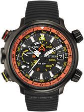 Citizen Eco-Drive BN5035-02F Men's Promaster Altichron Black Rubber Strap Watch