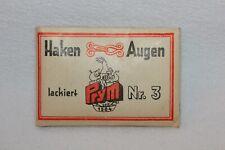 Prym Haken und Augen 15 Paar No 3 lackiert schwarz Retro Verpackung