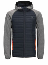 Jack & Jones Men's Quilted Puffer Jacket Warm Hooded Outdoor Lightly Padded