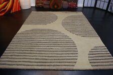 nr 133 Modern Teppich Handtufted Beige aus Wolle ca 200 x 150 cm Neu