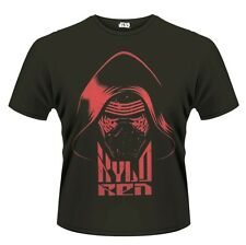 Star Wars The Force Awakens Kylo Ren Head Red Print T-Shirt Unisex Taille XL PHM