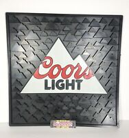 "Coors Light Rocky Mountains Logo Large Bar Rubber Spill Mat 14x14"" - Brand New!!"