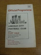 27/08/1969 Lincoln City v Port Vale  (Light marking, small pen mark on cover). W