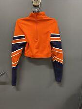 Varsity Spirit Fashion Orange And Blue Girl's Small Cheer Top