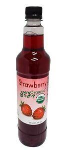 Joe's Syrup Organic Flavored Syrup, Organic Strawberry, 750 ml