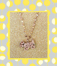 """CC20070 - """"rose gold"""" pendant with shimmering dog stainless steel pendent"""