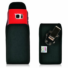 Turtleback Galaxy S7 Edge Vertical Nylon Holster Case Metal Clip Fits Otterbox