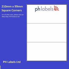 Multi-Purpose 3 to view. 210mm x 99mm Self adhesive label ( 500 Sheets )