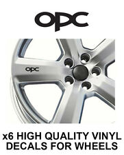 OPEL OPC ALLOY WHEEL STICKERS Graphics X6