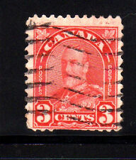 CANADA #167  3  CENT KING GEORGE V  ARCH/LEAF ISSUE  USED   b