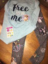 Justice Sz 10 Top Shirt 8 Legging Puppy Mermaid Nwt Easter Lot