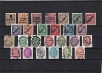 germany 1920's used stamps ref 11042