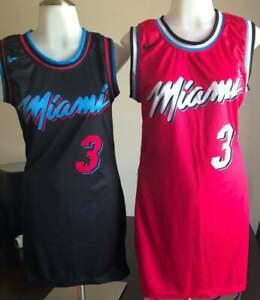 Miami Heat Black Pink Women NBA Jersey Dresses