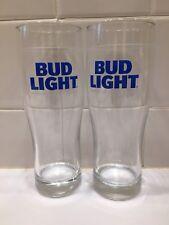 Pair Of Bud Light Pint Glasses Pilsner Style!!!
