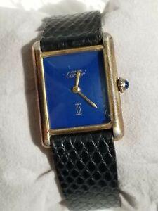 Vintage Cartier Tank Watch Mens18K Gold Electroplated Works/Keeps Time