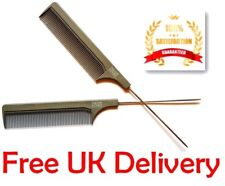 Hairdresser Barber Metal Pin Tail Rat Tail Comb For Styling TS Duralon Grey PRO