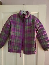 Marmot Girls 700 Fill Puffer Jacket Zippered Purple Greens Large